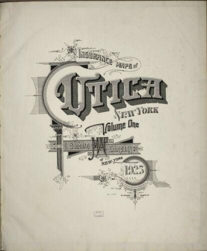 Utica,  New York~Sanborn Map©sheet ~85 maps on  CD from Sanborn Book~~1925