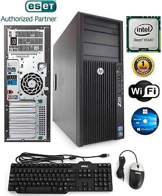 HP GAMING Z420 Tower Intel Xeon 3.60GHz 64GB 500GB SSD+2TB Win 10 GTX 1050 4gb