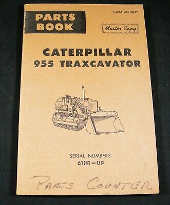 Cat Caterpillar 955 Traxcavator Tractor Parts Manual Book Catalog List 61h1-up
