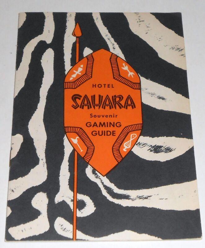 1953 HOTEL SAHARA GAMING GUIDE