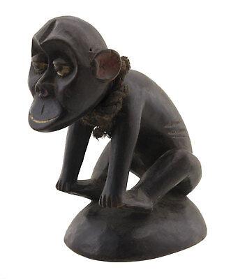 Figure zoomorphic Monkey Ngil Bulu Bulu Statues African Cameroon 16635