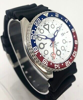 Seiko Diver Watch 7002 GMT Quartz - White dial - Pepsi bezel - 1141