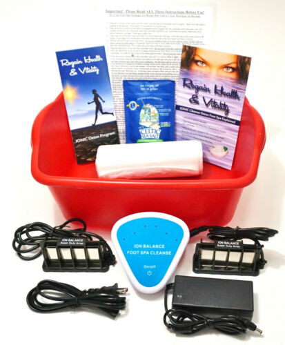 DETOX FOOT SPA - Ionic Cleanse Detox Foot Bath with Free Extras. 1 YEAR WARRANTY