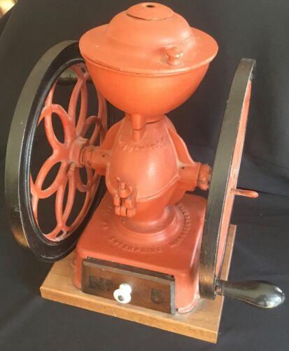 Large Antique Enterprise Philadelphia No. 5 Coffee Grinder Mill Double Wheel