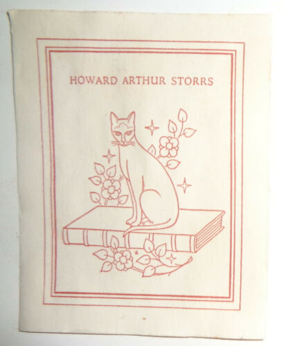 Howard Arthur Storrs - Ex Libris Bookplate