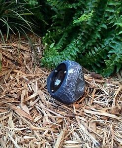 4 LED Outdoor Low Voltage Landscape Lighting Rock Spot Light NEBULA Gray Slate