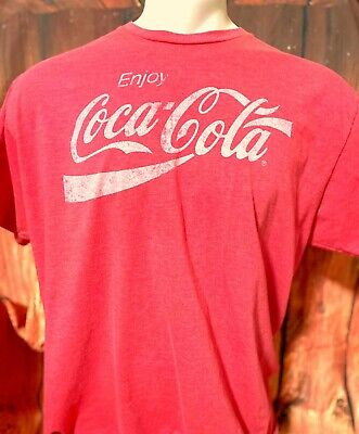 ENJOY COCA-COLA Official Coca-Cola Red Size 2XL T-Shirt