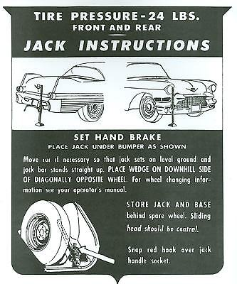 1957 Cadillac Jack Instruction Notice