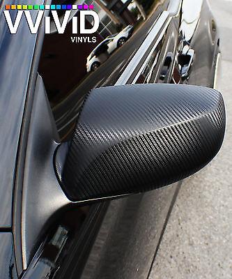 Vvivid 5ft X 50ft Black Carbon Fiber Vinyl Car Wrap Film