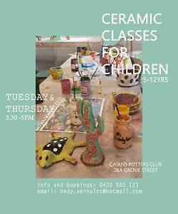 Ceramic Classes for Children in Cairns Potters Club Edge Hill Cairns City Preview