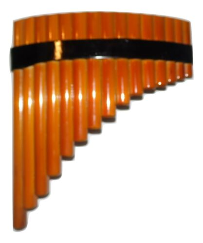 BAMBOO  PANFLUTE 15 PIPES FROM PERU -CASE INCLUDED-ITEM IN USA