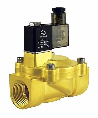 1 Inch Low Power Consumption Electric Air Gas Water Solenoid Valve Nc 220v Ac