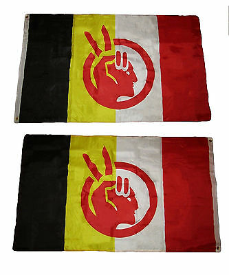 3x5 AIM American Indian Movement 2 Faced 2-ply Wind Resistant Premium Flag 3'x5'
