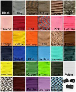 550-Paracord-Mil-Spec-Type-III-7-strand-parachute-cord-10-20-50-or-100-ft-nylon