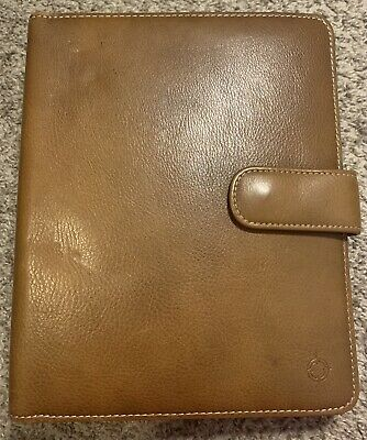 Franklin Covey Vintage Leather Binder Classic Tan Brown