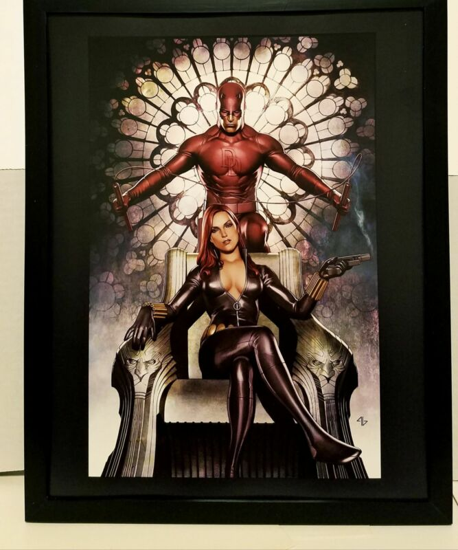 Black Widow & Daredevil by Adi Granov 11x14 FRAMED Marvel Comics Art Print Poste