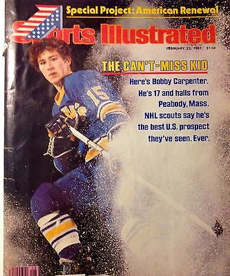'81 Sports Illustrated Bobby Carpenter USA Hockey #1 Prospect High School to NHL