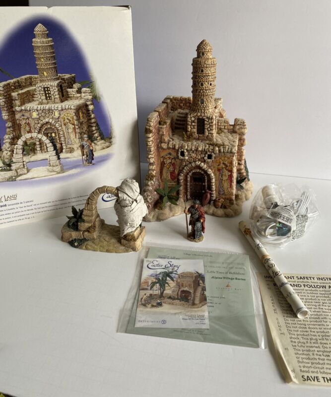 DEPT 56 THE TOWER OF DAVID 59810  THE HOLY LAND  SET OF 3 MIB