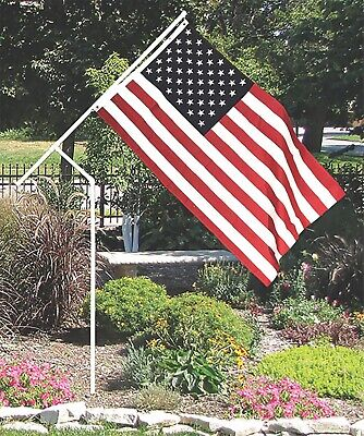 PVC flagpole, Best Quality PVC, Made in USA, Includes flag, camping, rv,
