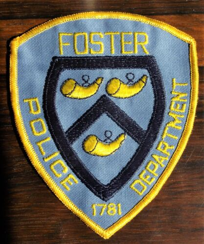 GEMSCO Vintage Patch - POLICE FOSTER RI - 40+ years old NOS