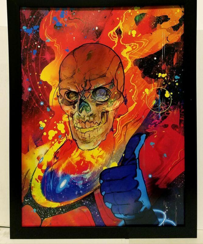 Cosmic Ghost Rider by Christian Ward  9x12 FRAMED Art Print Marvel Comics Poster