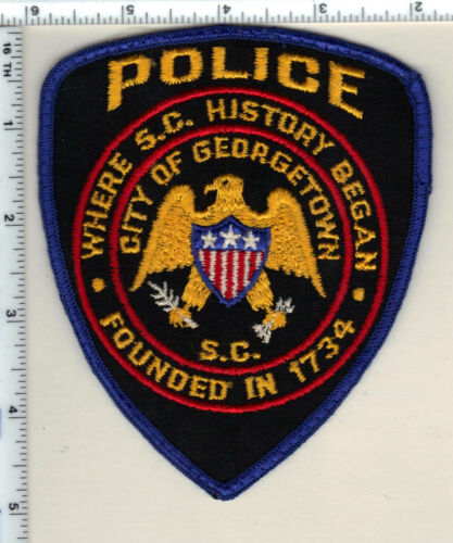 City of Georgetown Police (South Carolina) Shoulder Patch new from Early 1980