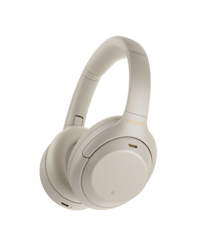 Sony WH-1000XM4 Wireless Noise-Cancelling Over-the-Ear Headphones - Silver
