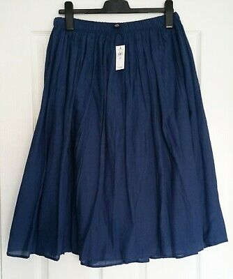 GAP Vintage Blue 100% cotton flippy skirt with elasticband UK M brand NEW
