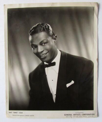 Circa 1940s Nat King Cole Vintage Publicity Photo Celebrity Jazz Pianist Singer