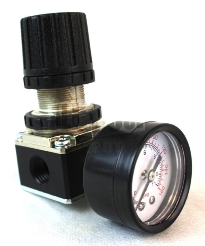 "New 1/4"" MINI REGULATOR W/ GAUGE FOR COMPRESSOR COMPRESSED AIR PRESSURE"