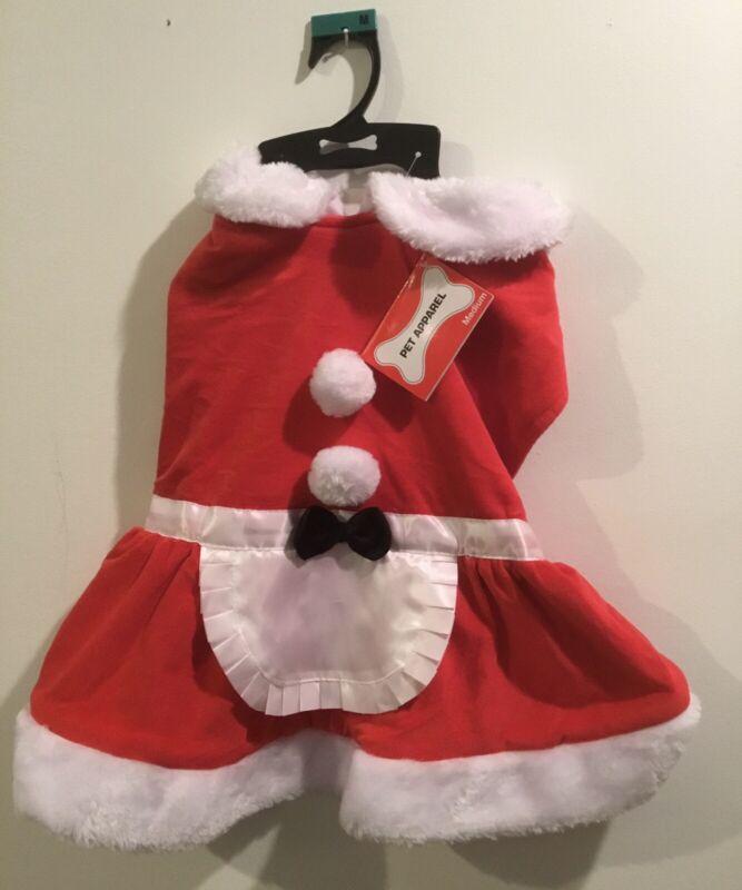 NEW Mrs. Claus Clause Christmas Dog Dress Size Medium M