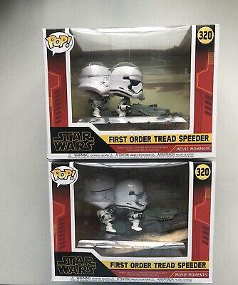 LOT OF 2 ~ Funko POP! Star Wars Movie Moments First Order Tread Speeder #320 NEW