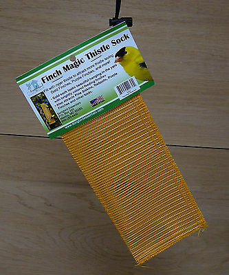 Songbird Essentials Finch Magic Gold Yellow Thistle Sack Goldfinch Bird Feeder
