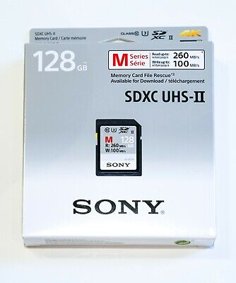 SD-Karte SONY 128GB UHS-II U3 SDXC Class10 260MB/s SF-M128 128