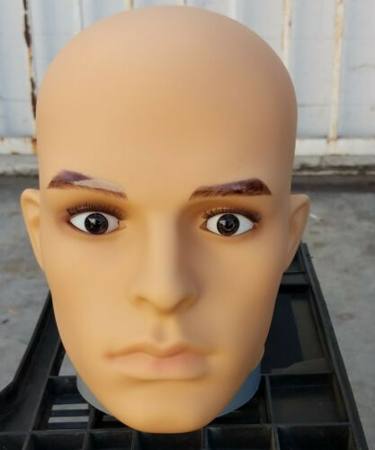 LESS THAN PERFECT #G2-A Plastic Male Realistic Mannequin Head Attachment