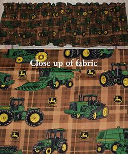 New John Deere Tractors Valance Window Cover Valances Curtains