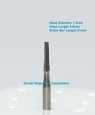Dental Carbide Burs Fg 171l Tapered Fissure For High Speed Hp 10 Per Package
