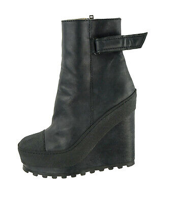 Lightly Worn ACNE 'Hero' Platform Wedge Leather Ankle Boots 40 EU 10 US $780