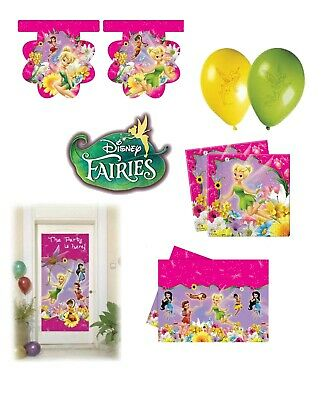 TINKERBELL DISNEY FAIRIES BIRTHDAY PARTY ITEMS TABLEWARE DECORATIONS