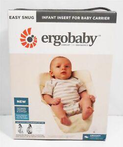 e5e00d091f6 Ergobaby Easy Snug Infant Insert for Baby Carrier - Natural 100 Organic  Cotton