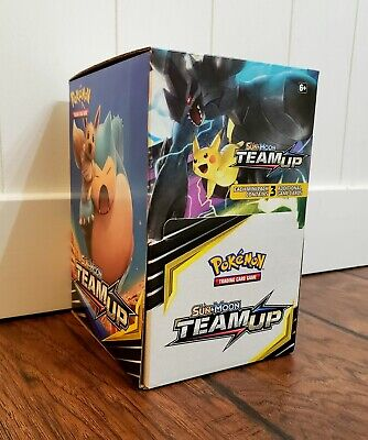 Pokemon TCG Team Up Booster Box- 96x 3ct Booster Packs Brand New