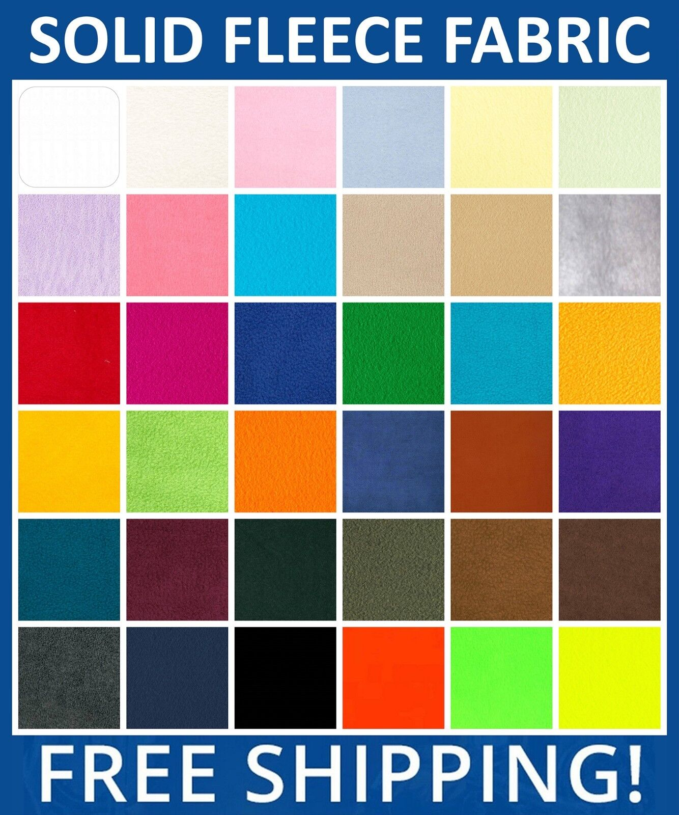 solid fleece fabric 60 wide sold by