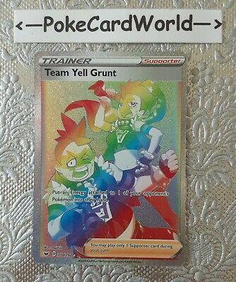 TEAM YELL GRUNT 210/202 Pokemon Sword & Shield Trainer Full Art SECRET Rare