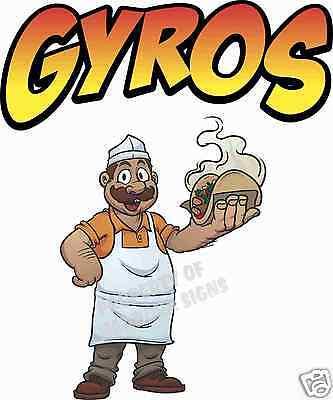 Gyros Decal 14 Gyro Concession Cart Restaurant Greek Food Truck Vinyl Sticker