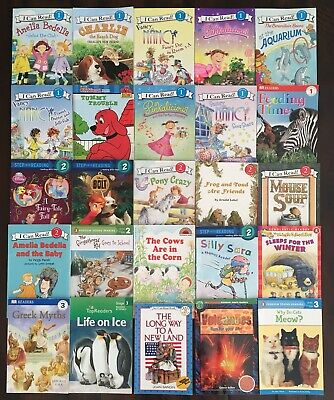 Lot 25 Readers 1st 2nd 3rd Grade Girls L 1 2 3 I Can Read Step Into DK Free SH!