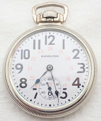 ANTIQUE 16S HAMILTON 992 21 JEWEL 21J 14K GOLD FILLED RAILROAD RR POCKET WATCH