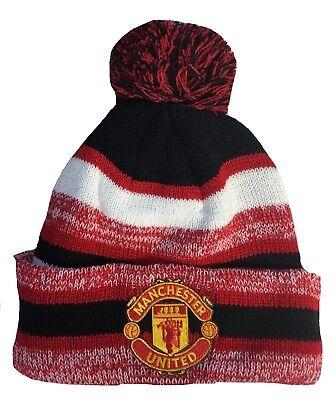 Manchester United Beanie - MANCHESTER UNITED HAT BEANIE POM POM COLOR RED BLACK WHITE