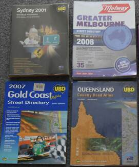 Street directories and Holden Astra handbook - lot of five