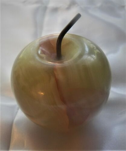 Marble Green Apple Paperweight #collectibles #marble #homedeor