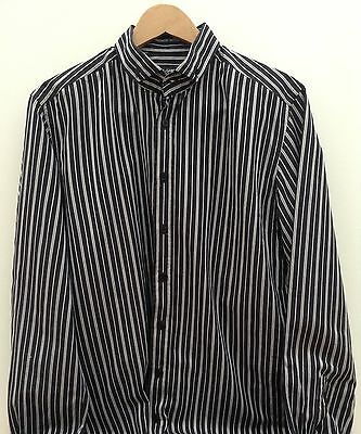 Dolce & Gabbana Striped Men's Black Shirt Size 17/43